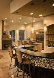 appealing modern kitchen with diy home bar idea feat sturdy table