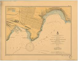 Map Of Lake Superior Print Of Chart Of Agate And Burlington Bays Minnesota North