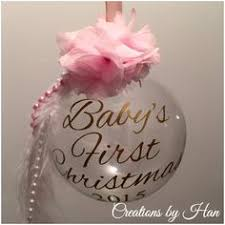 Baby S First Christmas Silver Bauble by Baby U0027s First Christmas Bauble Creations By Han Pinterest