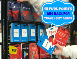 gift card for travel 4x fuel points are back at kroger for travel gift cards kroger krazy