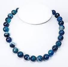 bead necklace ebay images Agate necklace ebay JPG