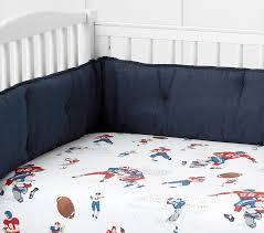 Sport Crib Bedding Organic Vintage Football Crib Fitted Sheet Pottery Barn