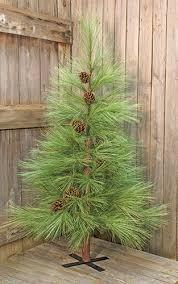 artificial trees primitive decor needle pine low prices