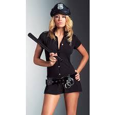 Policeman Halloween Costume Arresting Officer Police Woman Fancy Dress Costume