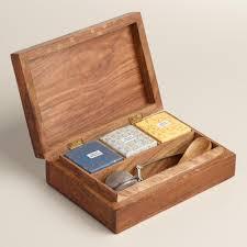 tea gift sets carved wood tea gift box set world market