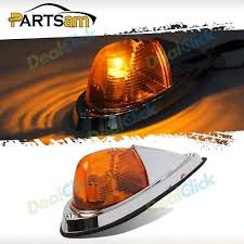 peterbilt 379 cab marker lights 2xclear roof cab marker top clearance amber 17 led lights for