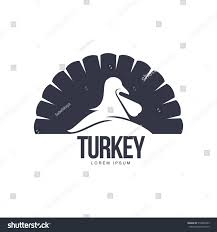 stylized simplified turkey silhouette graphic logo stock vector