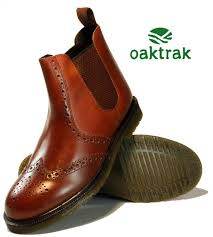 womens dealer boots uk oaktrak mens leather brogue chelsea pull on dealer boots