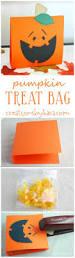 halloween party favor ideas pumpkin treat bag tutorial includes free pattern such a cute