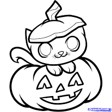 scary halloween clipart scary cat drawing coloring coloring pages