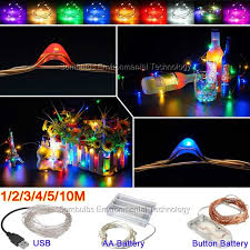 usb office fairy lights 1m 10m led string light usb battery powered cooper wire fairy