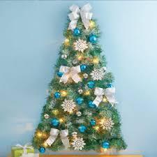 half christmas tree hanging half christmas tree decorated mini artificial prelit