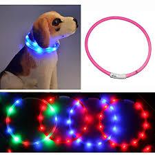 collar light for small dogs dog collar light yamay led dog collars for small medium large dogs
