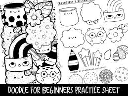 doodle 4 blank sheet doodle for beginners reference practice printable