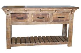 Sofa Tables With Drawers by Rustic Solid Wood Coffee Table With Storage Drawers