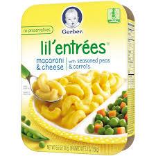 gerber graduates lil u0027 entrees macaroni u0026 cheese with peas