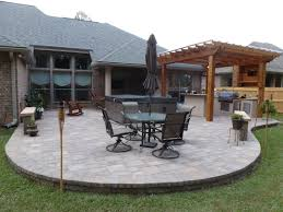 Small Patio Pavers Ideas Block Backyard Pavers With Iron Table And Chairs As