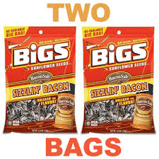 bigs bacon sunflower seeds sizzlin bacon flavored sunflower seeds two bags