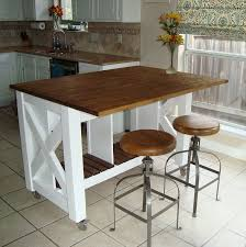 how to build a kitchen island with seating white rustic x kitchen island done diy projects