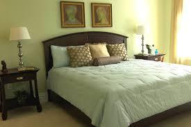 Master Bedroom Designs Green Bedroom Cozy Dark Wooden Curved Headboard With Soft Green