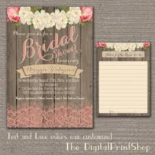 Shabby Chic Invites by Garden Rustic Baby Lingerie Bridal Shower Invite Wood Pink Peonies