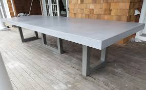 concrete patio dining table innovative ideas concrete outdoor dining table stylist design custom