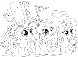 my little pony coloring pages cutie mark crusaders