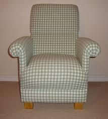 Gingham Armchair Laura Ashley Heath Green Gingham Fabric Chair U0026 Footstool Nursery
