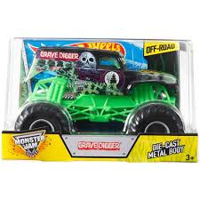 Wheels Monster Jam 1 24th Grave Digger Die Cast Truck