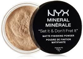 Bedak Nyx nyx cosmetics mineral finishing powder light medium 0 28 ounce