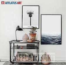 afflatus nordic minimalism sea landscape quotes wall art print