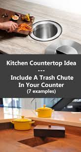 kitchen island trash bin best 25 trash chute ideas on pinterest hidden trash can kitchen