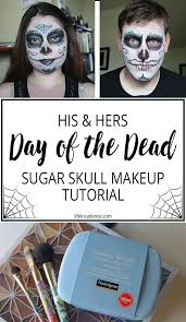day of the dead couple s makeup tutorial
