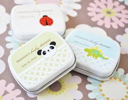 mint to be favors baby animals personalized mint tins