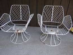Swivel Patio Chairs Homecrest Metal Swivel Patio Chairs Vintage Wrought Iron Mid