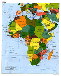 Africa Physical Map Countries Map Of Africa
