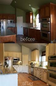 Before And After White Kitchen Cabinets Best 20 Glazing Cabinets Ideas On Pinterest Refinished Kitchen