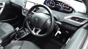 peugeot partner 2008 interior peugeot 2008 allure blue hdi s s u14198 youtube
