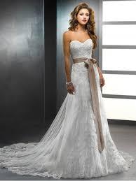 wedding dresses with sash ribbon mermaid sash ribbon belt lace wedding dress sleeveless