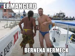 Banana Hammock Meme - ermahgerd banana hammock memes quickmeme