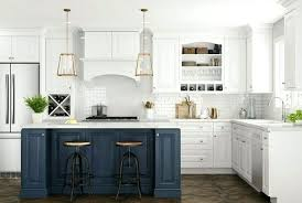 white kitchen cabinets with blue island select the cabinet style home renovation design ideas