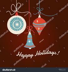 christmas ornaments flat design midcentury modern stock vector
