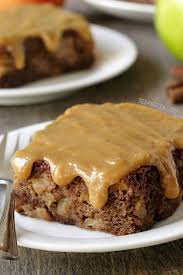 apple cake with easy caramel frosting gluten free option