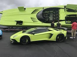neon green lamborghini aventador lamborghini aventador sv and matching lamboat for sale 95 octane
