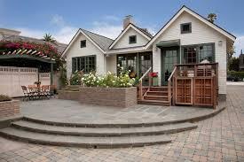 brick patio deck houzz