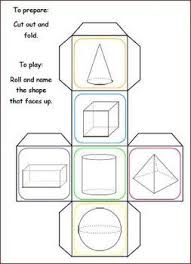 free 3d shape trivia cubes with worksheet teacherspayteachers
