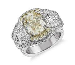 cushion cut diamond engagement rings bella vaughan for blue nile soleil fancy yellow cushion cut
