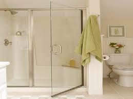 bathroom neutral color curtain bathroom modern wooden bathroom