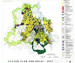 Delhi India Map by Delhi Master Plan 2021 Land Use And Development Plan Map Delhi