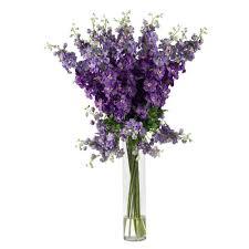 Silk Flower Centerpieces 38 In H Purple Delphinium Silk Flower Arrangement 1224 Pp The